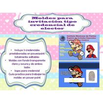 Klr-005 Kit De Moldes De Invitación Credencial De Elector