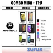 Promo Mica Protectora + Tpu Varias Marcas, Modelos Colores