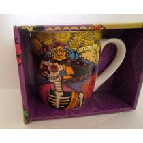 Tazas Con Caja !!! Halloween Dia De Muertos Tarros Catrina