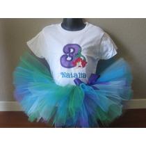 Tutus Disney Princesa Ariel Sirenita, Tutu Halloween $499