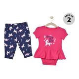 Set 2 Pzas Pañalero Y Pants Carters Multicolor Niña 15956210