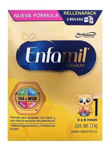 Fórmula Para Lactantes En Polvo Mead Johnson Enfamil Premium 1 En Caja De 1.1kg