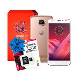 Celular Moto Z2 64gb Ram 4gb Latino Blanco + 32gb 18 Mesessi