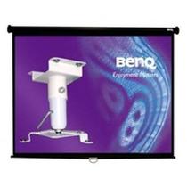 Pantalla Benq 84 Con Soporte De Techo Para El Proyector 60.p