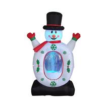 Muñeco Copo De Nieve Adorno Inflable Para Navidad Pm0