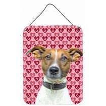 Corazones Amor Y Wall Terrier Jack Russell Día De San Valen