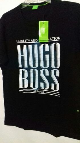 Playera De Hmbre Hugo Boss Cuello Redondo Azulcolor d6392d57454