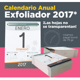 Calendario Exfoliador 2017 Almanaque Block