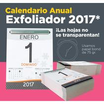 Calendario Exfoliador 2017 Almanaque Block