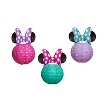 Minnie Mouse Bow-tique Linterna De Papel De Decoración 3 Sum
