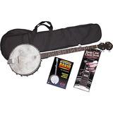 Rogue Banjo Starter Pack Nuevo Con Funda.