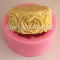 Molde De Silicon Para Hacer Jabon Con Diseño De Rosas Redond