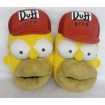 Pantumflas Homero Simpson!8-9!usadas Buen Estado!talla G!