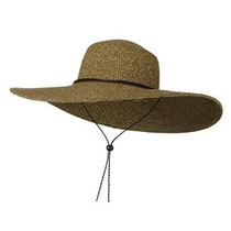 Mujeres Floppy Ala Ancha Packable Sombrero De Sol De Brown D