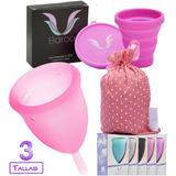 Copa Menstrual Baroo + Vaso Estérilizador + Bolsa De Tela