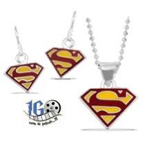 Dije Y Aretes Superman Original Dc Igo!!!