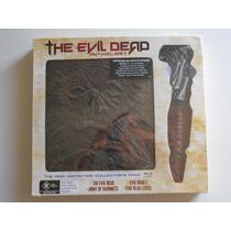 The Evil Dead 1 2 3 4 Anthology Bluray + Dvd + Libro + Daga