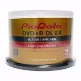 50 Dvd Dl Doble Capa Pio Data 8.5 Gb  Logo Excelente Calidad