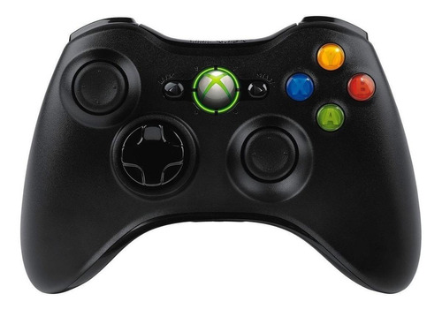 Control Joystick Inalámbrico Microsoft Xbox 360 Black