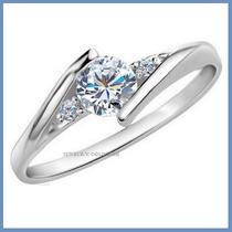 Anillo De Compromiso Diamante Natural .45ct Oro 14k -50% 192