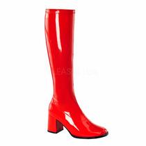 Bota Dama Disfraz Pleaser Funtasma Gogo 300 Color Rojo