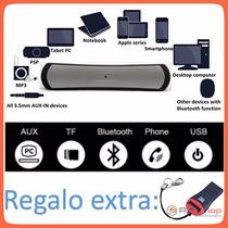 Bocina Speaker Bluetooth Recargable C/usb,radio,mp3,micro Sd