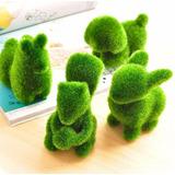 Juego 10 Figura Animalito De Pasto Artificial Jardin Decoracion De Casa Oficina Spa Ardilla Conejo Perro Anti Stress