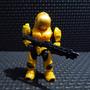 Halo 3 Mega Bloks Minifigura Spartan Security Amarillo