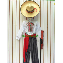 Disfraz Pantalon Rayado Revolucionario Camisa Caporal Niños