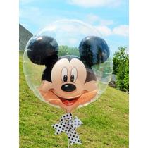 Mickey Mouse Globo Doble Burbuja Latex 24 Pulgadas Fiestas