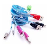 Cable Micro Usb V8 Luminoso Luz Led Solo Carga!