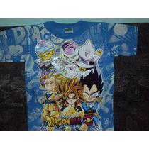 Playeras Dragon Ball Z Gt De Goku Vegeta Boo Talla 6-8 Niño