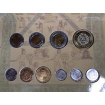 Set 10 Monedas Bu 2009 México Centavos Viejos Y Nuevos