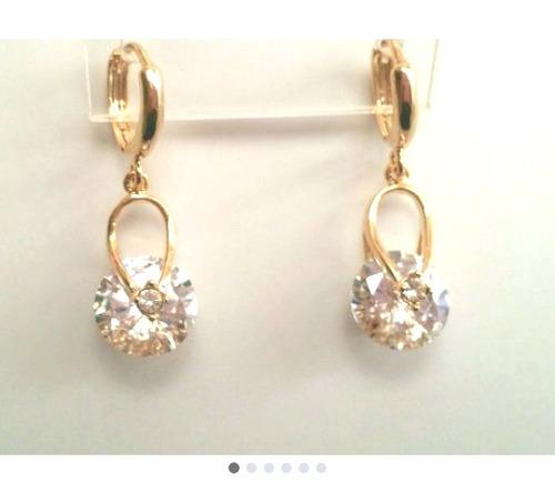 126e26b08d3a Finos Aretes Baño Oro 18k Lam Zirconia Calidad Diamante en venta en ...