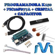 Programador Pic K150 Usb + Pic 16f877a + Capacitor + Cristal