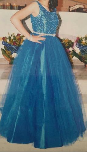 Vestido Xv Años Azul Rey Talla 7 En Venta En Izcalli