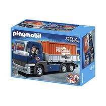 Playmobil 5255 Camión De Carga Con Contenedor!!