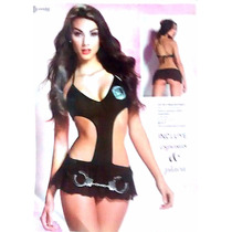 Baby Doll Disfraz Policía Con Esposas & Placa 71614