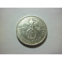 Alemania Nazi 2 Reich Fecha 1938 Plata Ley 0.640 7.9g 25mm