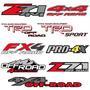 Par Calcomanías 4x4 Toyota, Chevrolet, Nissan, Ford, Z71