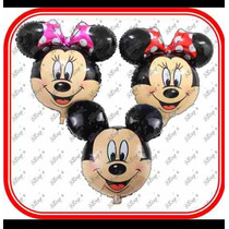 10 Cabezas Surtidas De Minnie O Mickey Mouse Envio Incluido