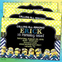 Invitaciones Minnions-niños-despictable Me-mi Villano