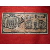 Antiguo Billete De $ 1.00 De S. L. P.