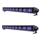 Par Luces Barra De Led Luz Negra 27w Neon Ultravioleta 9066