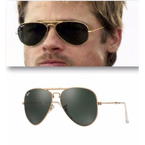 Lentes Ray Ban Aviator Rb 3025 L0205 Clasico Verde Oscuro
