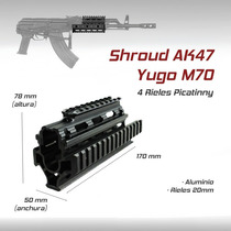Guardamanos Militar Shroud Ak47 Gotcha Paintball Airsoft