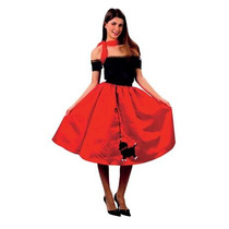 1950s Traje - Red Rock N Roll Bopper Poodle Falda 50's