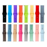 Correa Para Apple Watch  Silicon Lisa Colores Serie 5 4 3 2