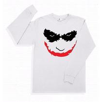 Playera The Joker Guason Manga Larga