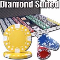 Poker Estuche 1000 Fichas Mod Diamond Suited 12.5 Grs